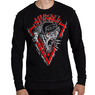 Herren Sweatshirt - SWEAT HARDCORE MONKEY ROUGE - HYRAW, HYRAW