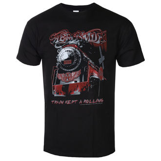 Herren T-Shirt Metal Aerosmith - Train kept a going - LOW FREQUENCY, LOW FREQUENCY, Aerosmith