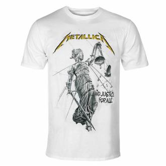 Herren-T-Shirt Metallica - Justice Album - Weiß, NNM, Metallica