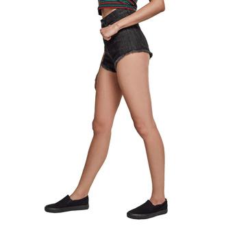 Damen Shorts URBAN CLASSICS - Denim Hotpants - schwarz gewaschen, URBAN CLASSICS