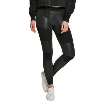 Damen Hose Leggings URBAN CLASSICS - Fake Leather Tech Leggings - schwarz, URBAN CLASSICS