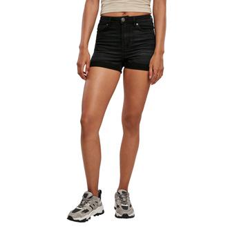 Damen Shorts URBAN CLASSICS - real black washed, URBAN CLASSICS