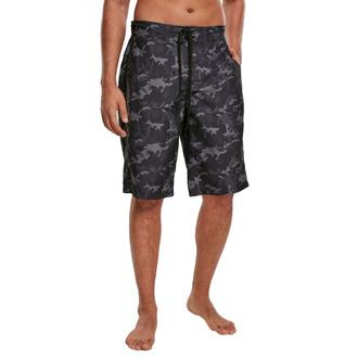 Herren Shorts Badeshorts URBAN CLASSICS - black camo, URBAN CLASSICS