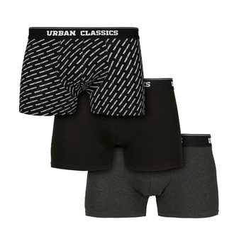 Männer-Boxershorts URBAN CLASSICS - 3er-Pack, URBAN CLASSICS