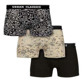 Herren-Boxershorts URBAN CLASSICS - 3er-Pack, URBAN CLASSICS