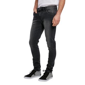 Herrenhose URBAN CLASSICS - Slim Fit Zip Jeans, URBAN CLASSICS
