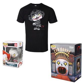 Set (Aktion Figur + T-Shirt) TO - Stephen Kings - POP! - Pennywise, POP