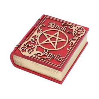 Dekoration (Box) Book of Spells - Red, NNM