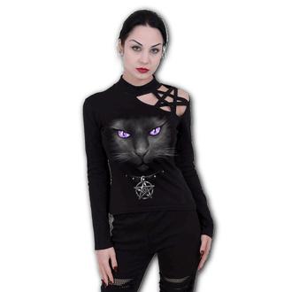 Damen Longsleeve - BLACK CAT - SPIRAL, SPIRAL