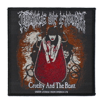 Patch Aufnäher Cradle Of Filth - Cruelty And The Beast - RAZAMATAZ, RAZAMATAZ, Cradle of Filth