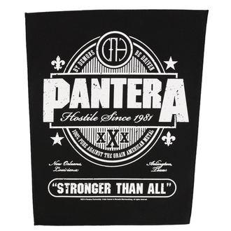 Aufnäher groß PANTERA - STRONGER THAN ALL - RAZAMATAZ, RAZAMATAZ, Pantera