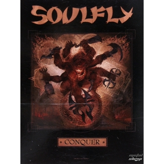 vlajka Soulfly 'Conquer 1', HEART ROCK, Soulfly