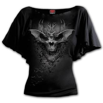 Damen T-Shirt - BAT SKULL - SPIRAL, SPIRAL