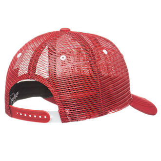 Kappe Cap WEST COAST CHOPPERS - CLUTCH LOGO ROUND BILL - Rot, West Coast Choppers