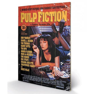 Holzbild Pulp Fiction - (Cover) - PYRAMID POSTERS, PYRAMID POSTERS, Pulp Fiction
