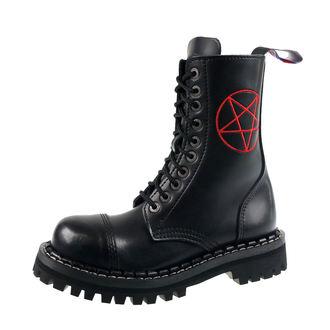 Stiefel Boots STEADY´S - 10 dírkové - Pentagramm rot, STEADY´S