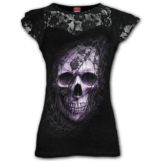 Damen T-Shirt - LACE SKULL - SPIRAL, SPIRAL