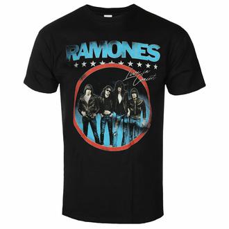 Herren T-Shirt Ramones - Circle Photo - Schwarz - ROCK OFF, ROCK OFF, Ramones
