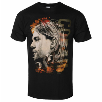 Herren T-Shirt NIRVANA - Kurt Cobain - Coloured Side View - Schwarz - ROCK OFF, ROCK OFF, Nirvana