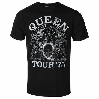 Herren-T-Shirt Queen - Tour '75 BL ECO - ROCK OFF, ROCK OFF, Queen