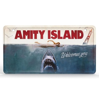 Schild Jaws - Metal Sign Movie Poster, NNM, Der weiße Hai