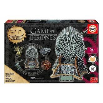 Jigsaw Puzzle Game of Thrones (&&string1&&) - 3D Monument - Eisen Thron, NNM, Game of Thrones: Das Lied von Eis und Feuer
