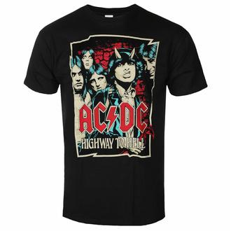 Herren T-Shirt AC/DC Highway To Hell - Sketch - Schwarz - ROCK OFF, ROCK OFF, AC-DC