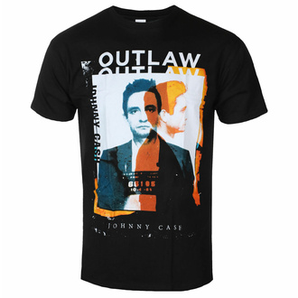 Herren T-Shirt Johnny Cash - Outlaw Photo - ROCK OFF, ROCK OFF, Johnny Cash