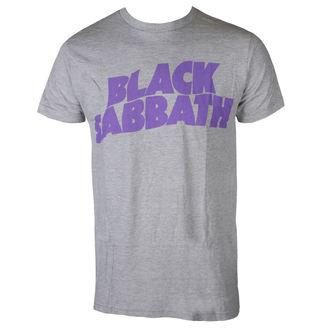 Herren T-Shirt Metal Black Sabbath - PURPLE LGO T GRY - BRAVADO, BRAVADO, Black Sabbath