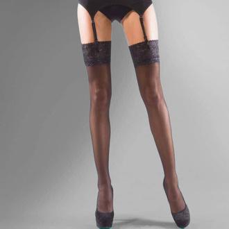Strumpfhose LEGWEAR - shine lace top - schwarz, LEGWEAR