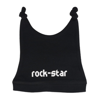 Babymütze rock star in white - black - Metal-Kids, Metal-Kids